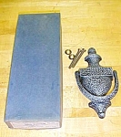 Click here to enlarge image and see more about item T16604: Antique Hammered Door Knocker (2) in Original Box