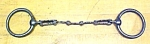 Click here to enlarge image and see more about item T18389: Horse Bridle Bit Cast Iron Scalloped Snaffle 1890's