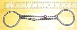 Click here to enlarge image and see more about item T18631: Horse Bridle Bit Iron Double Split Twist Snaffle