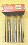 Click to view larger image of Vermont Taps Boxed Tap Set 7/16-14 Nice Vintage Set! (Image1)