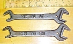 Antique Double Ended Wrench 70 to 83  3 Different Sizes