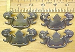 Click here to enlarge image and see more about item T22049: Antique Drawer Pulls Hardware Brass 4 Pulls