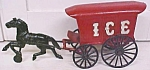 Click here to enlarge image and see more about item T23074: Kenton Horse Drawn Ice Wagon Single Horse Rare!