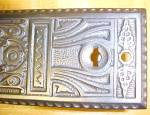 Click to view larger image of Ornate Door Plate Set Antique Store Handle Cast Iron (Image5)