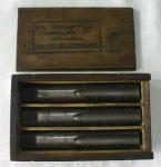 Click to view larger image of S. W. CARD Taps Boxed Tap Set 7/8-9 Rare! Wood Box (Image1)