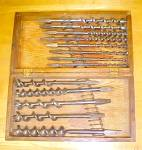Click to view larger image of Snell Brace Auger Bit Set w/Oak Box/Chest (Image1)