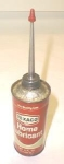 Click here to enlarge image and see more about item T3391: Texaco 4 FL. OZ. Home Lubricant Can