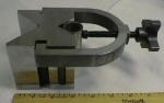 Click here to enlarge image and see more about item T3501: V-Block Hardened Precision Steel w/ Clamp