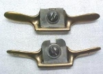 Click here to enlarge image and see more about item T3621: Miniature Cast Brass Spoke Shave Pair