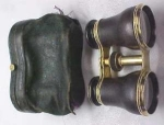 Click here to enlarge image and see more about item T4637: Opera Glasses Brass & Leather
