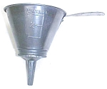 Click here to enlarge image and see more about item T5726: Nesco Tin Metal Combination Funnel