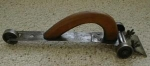 Click to view larger image of Hand Scraper on Cast Iron Wheels Rare Antique! (Image1)
