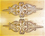 Click here to enlarge image and see more about item T8490: Metal Curtain Finials Victorian Art Nouveau