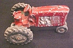Click here to enlarge image and see more about item Toy446: Vintage Die cast Toy Tractor