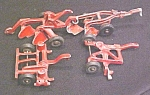 Click here to enlarge image and see more about item Toy453: Vintage Die cast Toy Tractor Implements