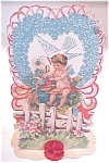 Click here to enlarge image and see more about item VAL0160: Fold Out Valentine Cherub Hearts Germany