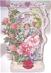 Click here to enlarge image and see more about item VAL0173: Valentines Card Germany Boy Castle Fold Out Antique