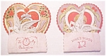 Click here to enlarge image and see more about item VAL0181: Honeycomb Valentines Card 2Pc Vintage Boy and Girl