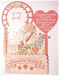 Click here to enlarge image and see more about item VAL0190: Honeycomb Valentines Card Cherub 1920's Near Mint