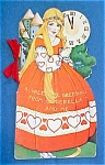 Click here to enlarge image and see more about item VAL024: Valentines Book Card Cinderella Very colorful