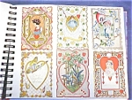 Click here to enlarge image and see more about item VAL065: Valentines Card Collection Antique 79 Pc Lace + Album