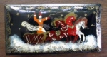Click here to enlarge image and see more about item VAN157: Russian Folk Art Box Hand Painted Signed