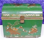 Click here to enlarge image and see more about item VAN909: Jewelry Box Baret Ware England Oriental