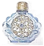 Click here to enlarge image and see more about item VAN940: Miniature Perfume Bottle Peacock Blue