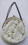 Click here to enlarge image and see more about item VINT10: Purse Bag Beaded & Embroidered Ladies French