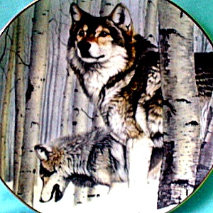 Broken Silence : Year Of The Wolf Hamilton Collection Artist Al Agnew Wolves