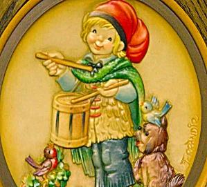 1979 ANRI J. FERRANDIZ CHRISTMAS DRUMMER WOOD Annual Plate Little Boy Musician Italy (Image1)