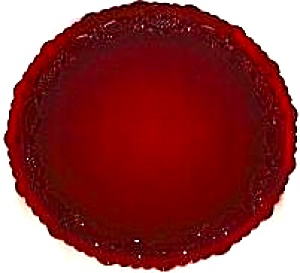 Avon The 1876 Cape Cod Collection Ruby Red Dinner Plate 1982 sandwich glass cranberry (Image1)
