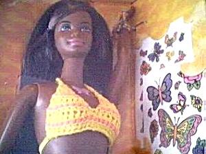 Butterfly Art Barbie Buddy CHRISTIE BEACH BUM 1998 (Image1)