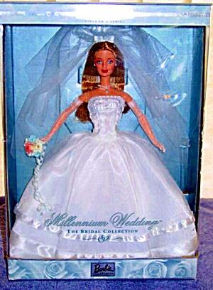 BARBIE 2000 MILLENIUM WEDDING #1 MATTEL The BRIDAL Collection NRFB Brunette 11 1/2 in (Image1)