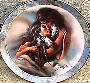 THE LOVERS SOUL MATES 1 LEE BOGLE NATIVE AMERICAN INDIAN CPL BRADFORD EXCHANGE BRADEX (Image1)