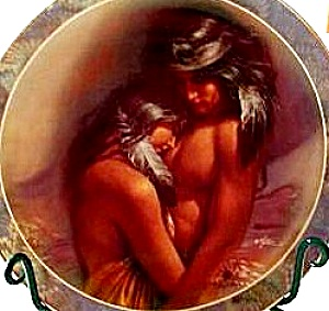 Warm Interlude Soul Mates By Lee Bogle 84-b10-249.8 Young Indian Brave & Squaw Maiden