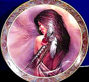 WHITE FEATHER #3 NATIVE BEAUTY BOGLE BRADFORD BRADEX INDIAN MAIDEN 84-B10-145.3 (Image1)