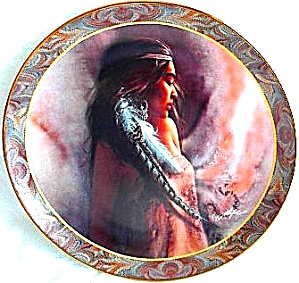 WARM THOUGHTS #7 NATIVE BEAUTY LEE BOGLE Bradford BRADEX INDIAN 84-B10-145.7 Maiden (Image1)