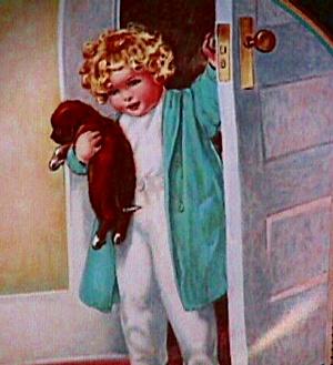 A Child's Best Friend #4 GOOD MORNING Bessie Pease Gutmann Sleep pets Gutman Cutmann (Image1)