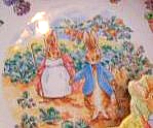 '02 Beatrix Potter Peter Rabbit Birthday Plate Nurseryware Nursery Wedgwood Gardeners