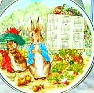 2002 Calendar Peter Rabbit Plate Wedgwood Wedgewood Box Beatrix Potter Gardening '01 (Image1)