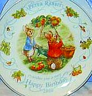2000 Birthday Beatrix Potter Peter Rabbit Nurseryware Wedgwood Queensware Wedgewood