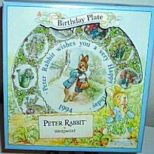 Peter Rabbit 1994 Happy Birthday Wedgwood Wedgewood #96143 Mint Potter Mail Mailman