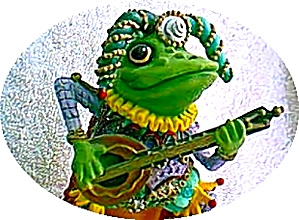 Camelot Frogs Jumping Jester by Artist Steve Kehrli 1 in series of 12 MINT (Image1)