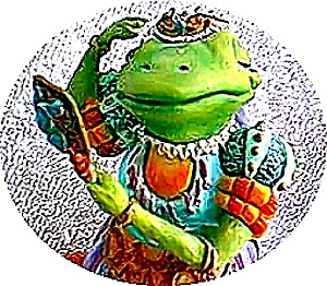 Camelot Frogs Lady of The Lily Pad by Artist Steve Kehrli 1 in series of 12 MINT (Image1)