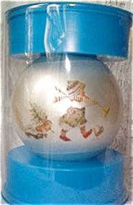 1974 American Greetings Corning Holly Hobbie glass undated ball skunk bunny cardinals (Image1)
