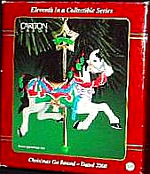 AMERICAN GREETINGS CHRISTMAS GO ROUND CAROUSEL HORSE #CXOR-104C AGC DATED 2000 #11 (Image1)