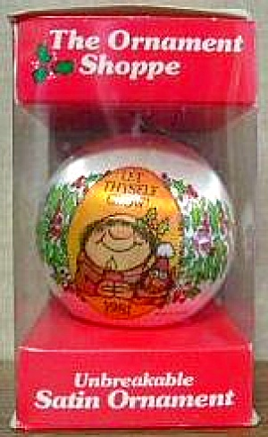 Sherman On The Mount 1981 Let Thyself Glow Cartoonist Walt Lee Monk Friar Cat Candle