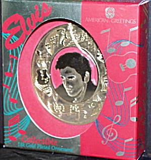 1995 GOLD PLATED HEAD OF ELVIS - AMERICAN GREETINGS (Image1)