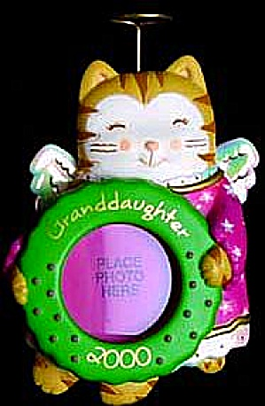 Granddaughter Cat Angel Photoholder 2000 #37 Cxor-040c W/halo Carlton Agc American Gr